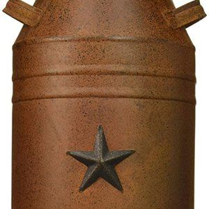 Craft Outlet Milk Can Container with Star Attached
